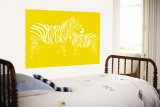Yellow Zebra Wall Mural by  Avalisa