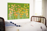 Green Wild Flowers Wall Mural by  Avalisa