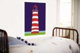 Red Lighthouse Wall Mural by  Avalisa