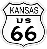 Route 66 Kansas Blechschild