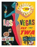 Fly TWA Las Vegas, c.1960 Giclee Print by David Klein