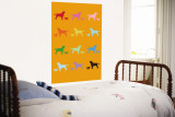 Orange Rainbow Labs Wall Mural by  Avalisa