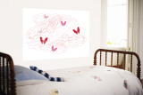 Pink Butterfly Trails Wall Mural by  Avalisa