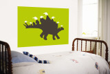 Green Spike Wall Mural by Avalisa