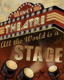 Life's Theatre Poster by Conrad Knutsen