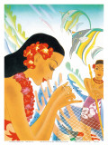 Hawaiian Gifts of the Sea, Menu Cover, c. 1930s Poster by Frank MacIntosh