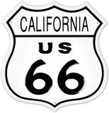 Route 66 California Cartel de chapa