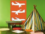 Orange Planes Wall Mural by  Avalisa
