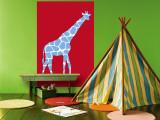Red Giraffe reproduction murale géante par  Avalisa