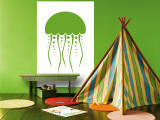 Green Jellyfish Wall Mural by  Avalisa