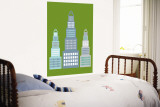 Green Skyscraper Wall Mural by  Avalisa