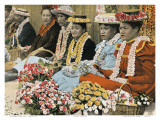 Lei Vendors, Honolulu, Territory Hawaii, c.1920 Print