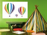 Rainbow Hot Air Balloons Vægplakat af Avalisa