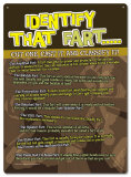 Identify that Fart! Cut one, Cast it and Classify it! Tin Sign