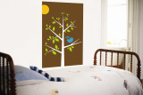 Brown Songbird Wall Mural by Avalisa 
