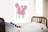 Pink Allium Wall Mural by  Avalisa