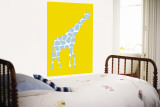 Yellow Giraffe Wall Mural by  Avalisa