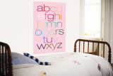 Pink Rainbow Alphabet Wall Mural by  Avalisa