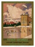 Chemins de Fer du Midi, Font-Romeu France c.1920s Poster af George Roux