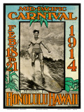 Mid Pacific Carnival 1914, Honolulu, Hawaii, Featuring Duke Kahanamoku Poster