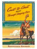 Pennsylvania Railroad 1940s Prints by Milton Menasco