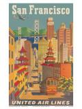 United Airlines San Francisco c.1950 ポスター : ジョセフ・フェーエル