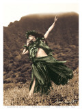 Primitive Hula, Hawaiian Hula Dancer Posters af Alan Houghton
