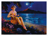 Ukulele Player, Hawaii Hula Girl Posters