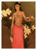 Banana Girl, Royal Hawaiian Hotel Menu, c.1950 Art par John Kelly