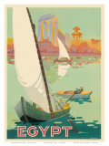 Egypt The Nile River c.1930s Plakat af H. Hashim