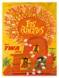 Fly TWA Los Angeles c.1959 Art by David Klein