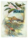 A Trip To Hawaii, Hawaiian Tourist Booklet Cover c.1894 Affiche