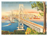 Oakland Bridge, San Francisco, California, USA Print