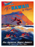 Fly To Hawaii by Clipper, Pan American World Airways c.1940s Posters by M. Von Arenburg
