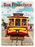 United Air Lines San Francisco, Cable Car c.1957 Posters by Stan Galli