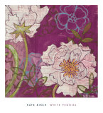 White Peonies Prints by Kate Birch