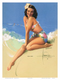 Sunny Skies, Pin-Up of Miss Hawaii 1950 Elsa Edsman, c.1953 Prints by Rolf Armstrong