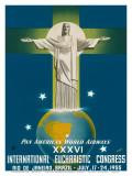 Pan American Airways Rio de Janeiro, Brazil, Christ on the Cross, c.1955 Posters by  La Motta
