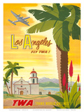 Fly TWA Los Angeles 1950s Poster by Bob Smith