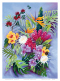 Hawaiian Island Floral Posters by Warren Rapozo