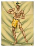 Hawaiian Hula Drummer, c.1940s Prints by  Gill