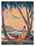 Hawaiian Fantasy, Hula Girl Calendar Page, c.1941 Affiches par Frederick Heckman
