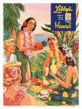 Hawaiian Luau, Libby's Pineapple Hawaii, c.1957 Posters by  Laffety