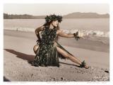 Dance of the Turtle, Hawaiian Hula Dancer Print by Alan Houghton