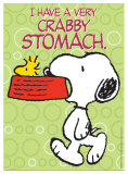Peanuts - Crabby Stomach Plaque en m&#233;tal