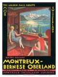 Montreux, Bernese Oberland Railway, Switzerland, c.1925 Poster