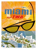 Fly TWA Miami c.1963 Prints by David Klein