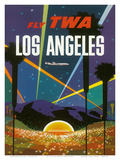 Fly TWA Los Angeles, Hollywood Bowl, c.1958 Poster by David Klein