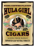 Hula Girl Cigars, Hawaii Posters