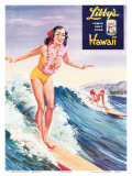 Surfer Girl, Libby's Pineapple Poster 1957 Poster by  Laffety